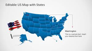 Us Maps With States Us Map Template For Powerpoint With Editable States Slidemodel