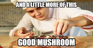 Food Meme - and a little more of this good mushroom funny pic funny website
