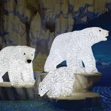 led big polar acrylic sculpture papabear by aql