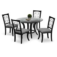 value city furniture dining room sets sets some armless black
