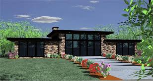 one level houses modern one level house plan combination of glass wood and