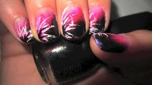 exclusive punk rock nail design fading pink to black youtube
