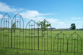 iron arch cathedral flower trellis 3 sizes