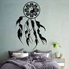 wall decals dream catcher amulet yin yang vinyl decal art bedroom wall decals dream catcher amulet yin yang vinyl decal art bedroom decor kk712