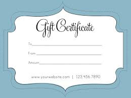 business gift cards free printable gift certificates for business free printable gift