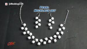 pearl necklace jewellery making images Diy pearl necklace earring set gift idea easy inexpensive jpg