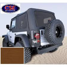 jeep soft top tan xhd dark tan soft top no door skins tinted windows jeep wrangler