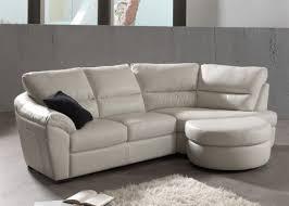 canapé coin canapé d angle sofia en cuir 2 places avec un relax manuel à