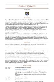Government Resume Examples by Lab Assistant Resume Samples Visualcv Resume Samples Database