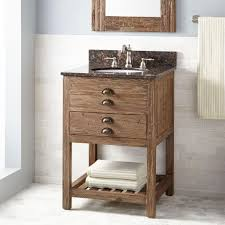 bathroom console reclaimed pine wood bathroom vanity with 3