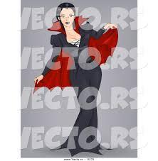 vector of a halloween cartoon vampire pinup by bnp design