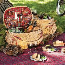 wine picnic baskets highlander wine picnic basket for outdoor settings