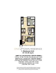 one uptown residence u2013 floor plans megaworld at the fort