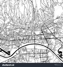 Zagreb Map Zagreb Croatia Vector Map Monochrome Artprint Stock Vector
