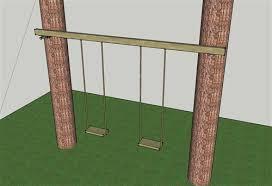 swing between tree kit treehouse bolts hardware