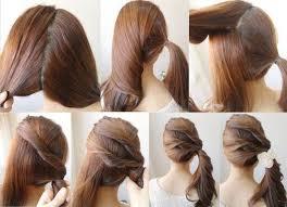 tutorial mengikat rambut kepang tips cantik belajar cara ikatan rambut yang cantik dan comel 9
