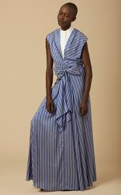 Long Draped Dress Long Draped Silk Stripe Dress By Tome Moda Operandi