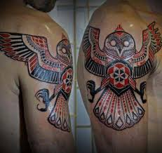 tribal owl tattoos for men styles time