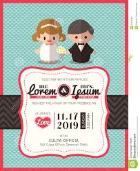 Free Wedding Invitation Card Template Wedding Invite Card Template With Groom And Bride Cartoon Stock