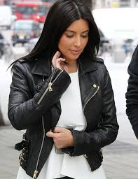 kim kardashian black tattoo leather jacket saleonleather