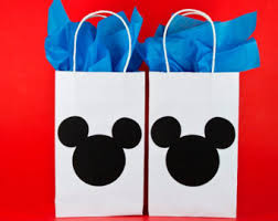 mickey mouse favor bags qty 12 minnie mouse party bags minnie mouse birthday