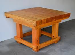 Heavy Duty Table by Heavy Duty Wood Workshop Table Solid Redwood Table