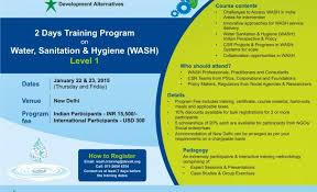 Invitation Programs Invitation To The Training Programme On U0027water Sanitation