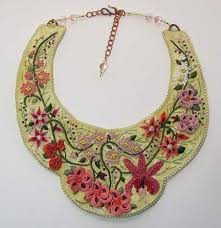 bib necklace designs images How to make embroidered bib necklace tutorials the beading gem 39 s jpg