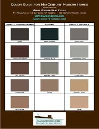 eichler paint colors mid century modern paint and stain swatch