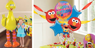 sesame street balloons party