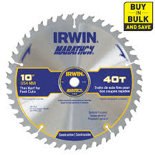 Circular Saw Blade For Laminate Flooring Shop Irwin Marathon 10 In 40 Tooth Standard Tooth Carbide Circular
