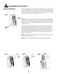 installation instructions water drainage danby dpa110cb5bp