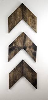 3 wood wall medium rustic wood arrows set of 3 wall arrows gallery wall