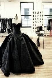 black wedding wedding dress bridal gown unique wedding dress a line princess