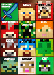 choose 3 minecraft inspired lego wall art hanging picture pixel 8