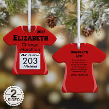 personalized ornaments race day running bib