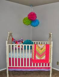 Pink And Green Curtains Nursery by Studio 7 Interior Design Client Reveal Colorful Nursery