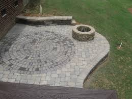 diy backyard fire pit paver patio with firepit and circular inset