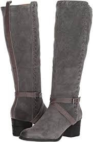 womens boots grey leather boots gray shipped free at zappos