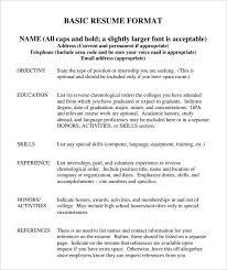resume outline exles types of resumes sles diplomatic regatta