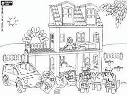 coloriage maison playmobil  Recherche Google  PLAYMOBIL OMALOVÁNKY
