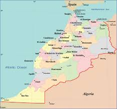 map of cities detailed administrative map of morocco with cities morocco