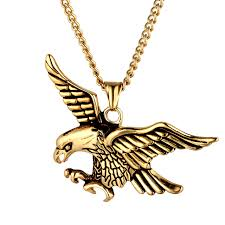 aliexpress vintage necklace images Vintage punk animal eagle pendants necklaces stainless steel jpg