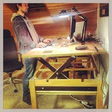 Adjustable Height Laptop Stand For Desk by Liftable Stand Up Rising Desk Table Desks And Woodworking