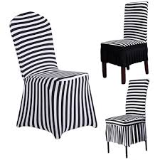 Cheap Spandex Chair Covers For Sale Aliexpress Com Buy Skirt Hem Black White Stripes Fashion Chair