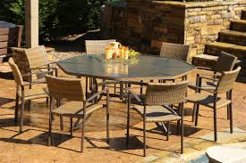 Rattan Patio Dining Set Maracay 9 Pc Outdoor Dining Set Tortuga Outdoor