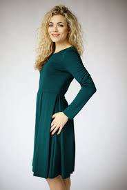 green dress long sleeve dresses for women fit and flare