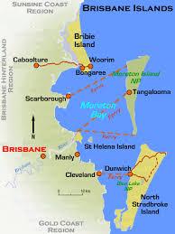 islands map brisbane islands regional map qld