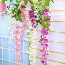 Home Wedding Decor by Hanging Wisteria Decor Promotion Shop For Promotional Hanging