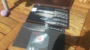 secondhand catering equipment chefs knives kyoto damascus 5pcs